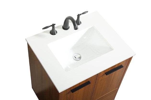 "Baldwin 24"" Bathroom Vanity, Teak, large"