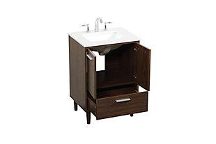 "Baldwin 24"" Bathroom Vanity, Walnut, large"
