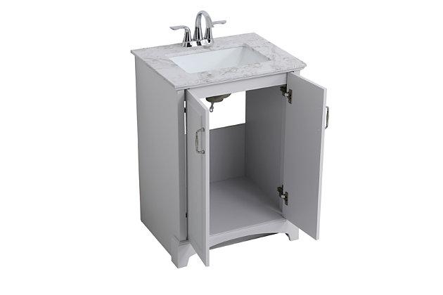 "Hampson 24"" Bathroom Vanity, Gray, large"