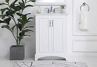 "Hampson 24"" Bathroom Vanity, White, rollover"