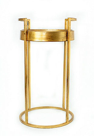A Touch of Design Dupont Round Iron End Table, , rollover