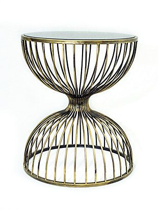 A Touch of Design Eden Iron Metal End Table, , rollover