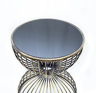 A Touch of Design Eden Iron Metal End Table, , large