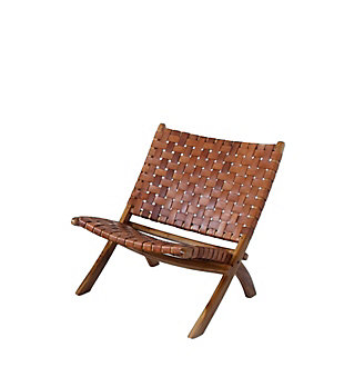 A Touch of Design Catania Folding Cow Skin Leather Chair, , large