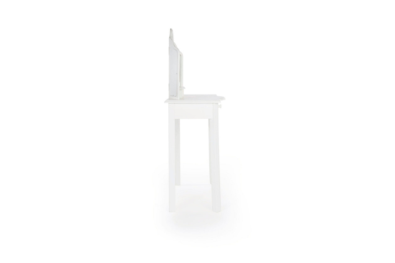 Tremendous Kids Classic White Vanity And Stool Ashley Furniture Homestore Machost Co Dining Chair Design Ideas Machostcouk