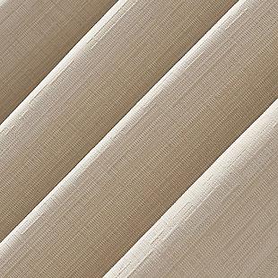 "Sun Zero Gavlin Crosshatch Jacquard Thermal Extreme 100% Blackout 52"" x 84"" Cream Off-white Grommet Curtain Panel, Cream, large"