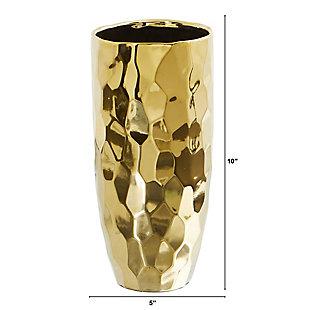 """10"""" Designer Gold Cylinder Vase, , large"""