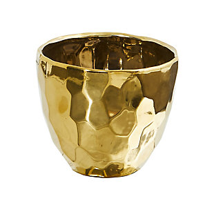 "6"" Designer Gold Vase, , large"