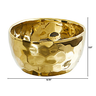 "6.75"" Designer Gold Bowl, , large"