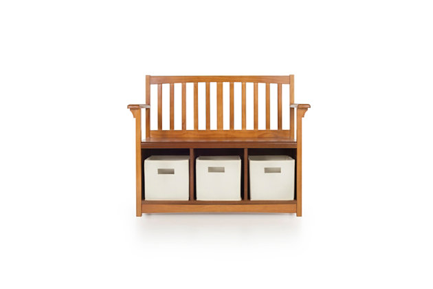Home Accents Mission Storage Bench U0026 Bins, , Large ...