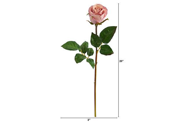 "20"" Rose Artificial Bud Flower (Set of 6), , large"