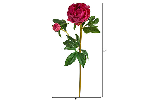 """22"""" Peony Artificial Flower (Set of 3), , large"""