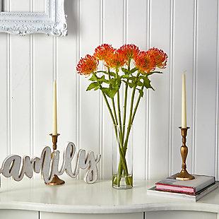 "23"" Pincushion Artificial Arrangement in Glass Vase, , rollover"
