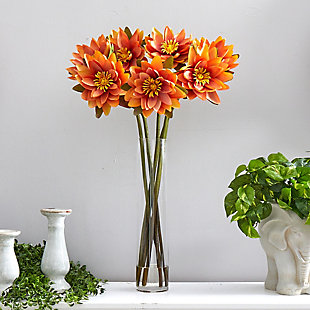 "30"" Lotus Artificial Arrangement in Cylinder Vase, , rollover"