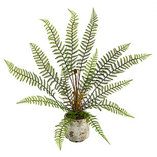 "20"" Fern Artificial Plant in Decorative Planter, , large"