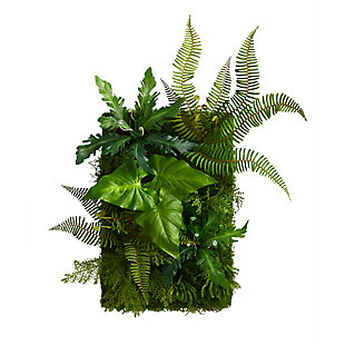"""24"""" x 16"""" Mixed Foliage Artificial Living Wall, , large"""