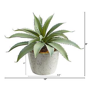 """9"""" Aloe Succulent Artificial Plant, , large"""