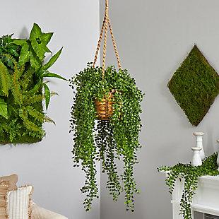 "51"" Gleditsia Artificial Plant in Hanging Basket UV Resistant (Indoor/Outdoor), , rollover"
