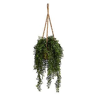 "51"" Gleditsia Artificial Plant in Hanging Basket UV Resistant (Indoor/Outdoor), , large"