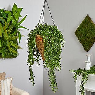 "45"" Gleditsia Artificial Plant in Hanging Cone Basket UV Resistant (Indoor/Outdoor), , rollover"