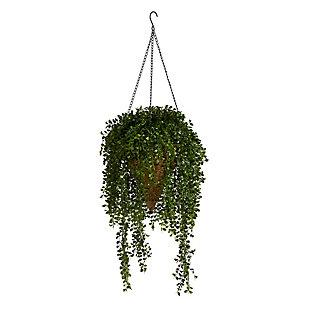 "45"" Gleditsia Artificial Plant in Hanging Cone Basket UV Resistant (Indoor/Outdoor), , large"