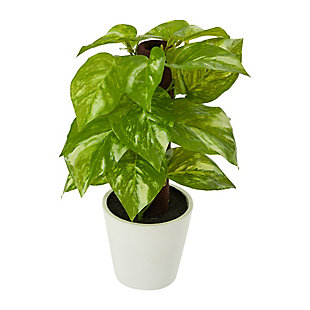 """9"""" Pothos Artificial Plant in White Planter (Real Touch), , large"""