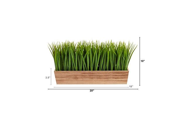 """20"""" Vanilla Grass Artificial Plant in Decorative Planter, , large"""