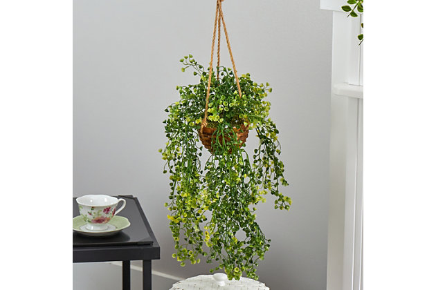 "20"" Baby Tear Artificial Plant in Hanging Basket, , large"