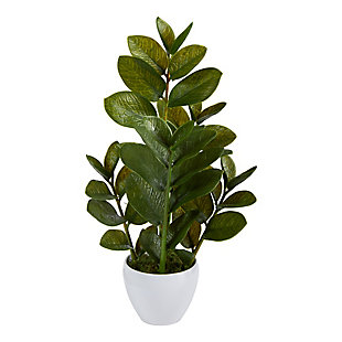 "22"" Zamioculcas Artificial Plant in White Planter, , large"