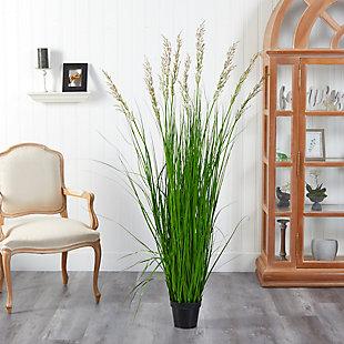 5.5' Plum Grass Artificial Plant, , rollover