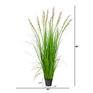 5.5' Plum Grass Artificial Plant, , large