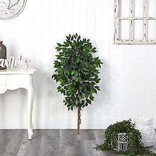 4' Single Ficus Artificial Tree (No Pot), , rollover