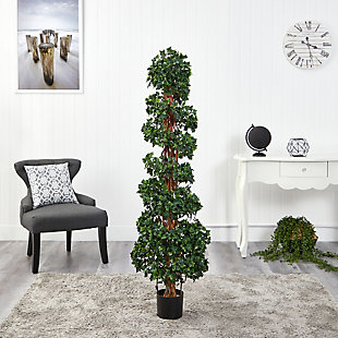 5.5' English Ivy Topiary Spiral Artificial Tree UV Resistant (Indoor/Outdoor), , rollover