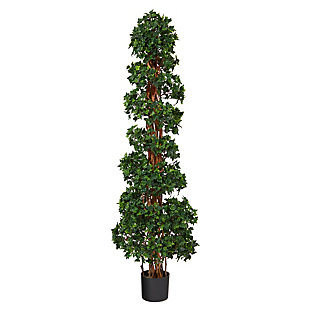 5.5' English Ivy Topiary Spiral Artificial Tree UV Resistant (Indoor/Outdoor), , large