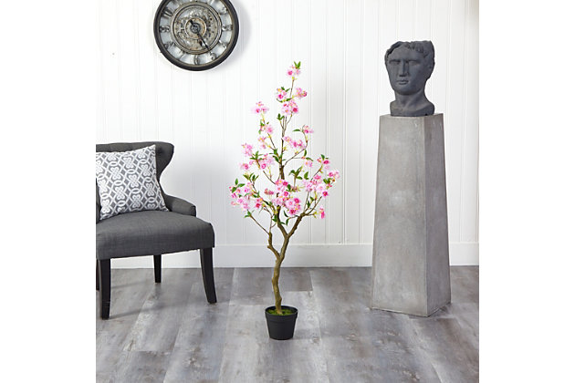 4' Cherry Blossom Artificial Plant, , large