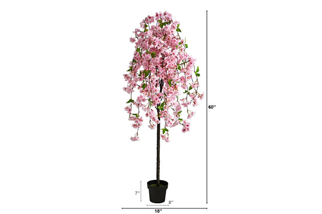 5' Cherry Blossom Artificial Tree, , large