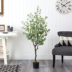 4.5' Eucalyptus Artificial Tree, , rollover