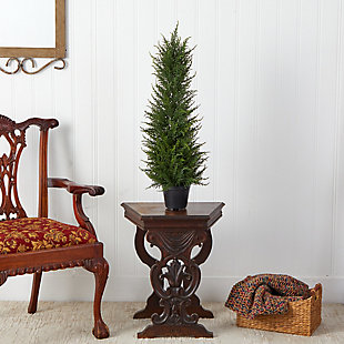 2.5' Cypress Artificial Tree UV Resistant (Indoor/Outdoor), , rollover