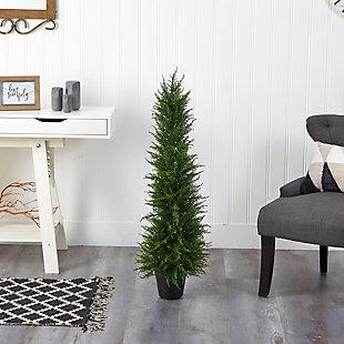 3.5' Cypress Artificial Tree UV Resistant (Indoor/Outdoor), , rollover