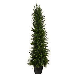 3.5' Cypress Artificial Tree UV Resistant (Indoor/Outdoor), , large