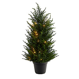 """18"""" Cedar Artificial Tree with LED Lights UV Resistant (Indoor/Outdoor), , large"""