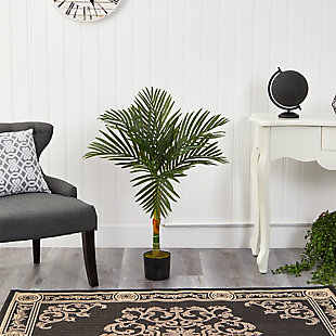 3' Single Stalk Golden Cane Artificial Palm Tree, , rollover
