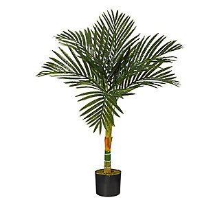 3' Single Stalk Golden Cane Artificial Palm Tree, , large