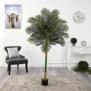 6' Single Stalk Golden Cane Artificial Palm Tree, , rollover