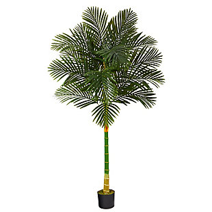 6' Single Stalk Golden Cane Artificial Palm Tree, , large
