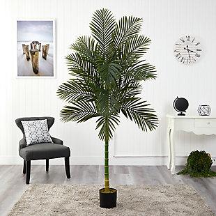 7' Single Stalk Golden Cane Artificial Palm Tree, , rollover
