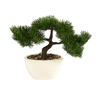 "10"" Cedar Bonsai Artificial Tree in Decorative Planter, , large"