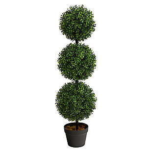 3' Boxwood Triple Ball Topiary Artificial Tree (Indoor/Outdoor), , large