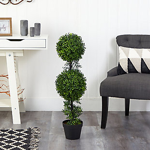 """34"""" Boxwood Double Ball Topiary Artificial Tree (Indoor/Outdoor), , rollover"""
