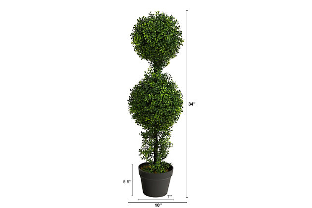 """34"""" Boxwood Double Ball Topiary Artificial Tree (Indoor/Outdoor), , large"""